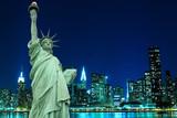 Manhattan Skyline and The Statue of Liberty, New York City - 29046595