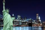 Brooklyn Bridge and The Statue of Liberty, New York City - 29046597