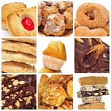 pastries and sweets collage