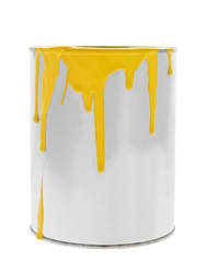 Messy Yellow Paint can