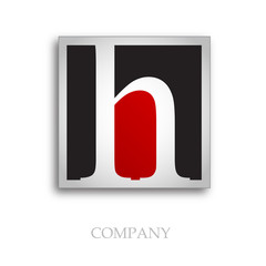Logo initial letter H # Vector