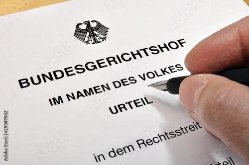 Leinwanddruck Bild Urteil Bundesgerichtshof