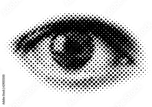vector dots eye