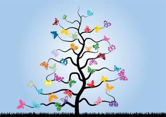 Farfalle albero