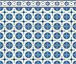 azul mosaico circulos