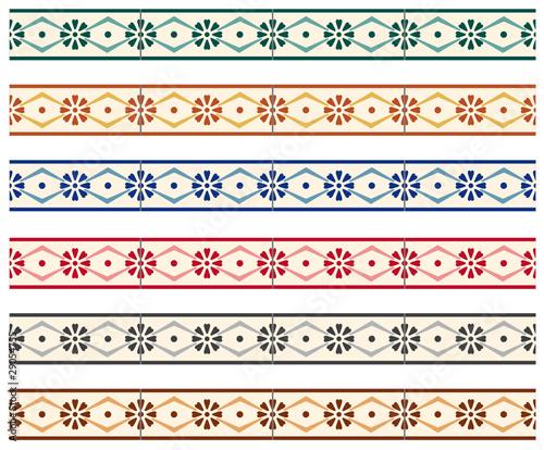 cenefas mosaico flores