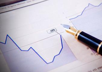grafico de recuperacion de negocio y pluma