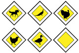 Animal priority signs poster