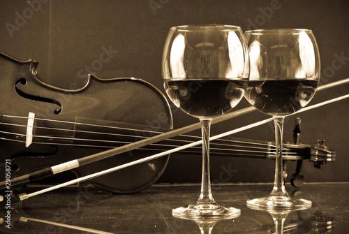 Fototapeta Romantic Evening For Two Concept Image