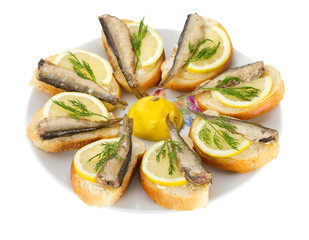 sandwiches with sprats