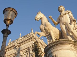 Roma, Campidoglio, dioscuro.