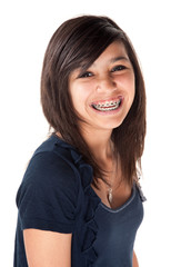 Cute Smiling Girl with Braces