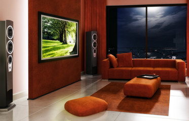 Gentle designed home cinema