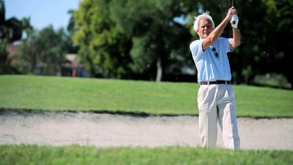 Senior Gentleman Playing Golf