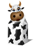 Mucca da Latte Cartoon-Milk Cow-Vector