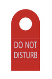 Red Isolated Do Not Disturb Door Handle Tag