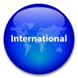 INTERNATIONAL Button (global world map travel worldwide web) poster