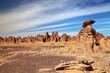 Sandstone cliffs in Sahara Desert