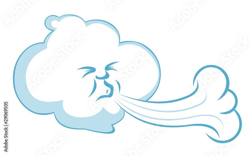 "Blowing Wind Character"" Stock image and royalty-free vector files ..."