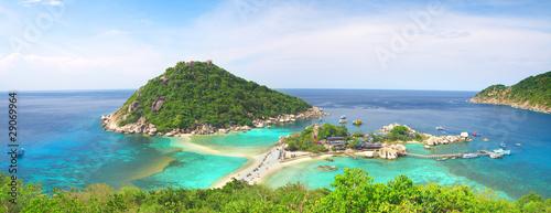 Leinwanddruck Bild Koh Nang yuan Island, Thailand