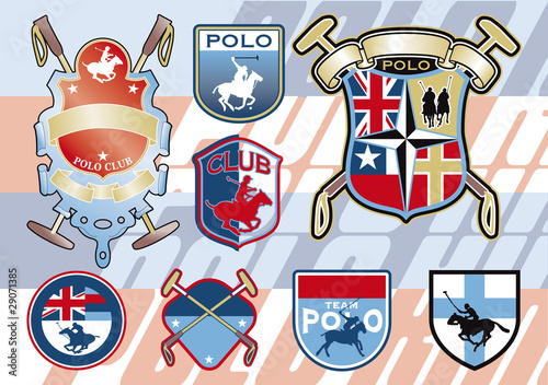 horse polo badges