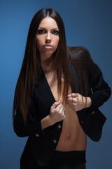 Beautiful half-naked woman