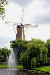 Picturesque Dutch Windmill