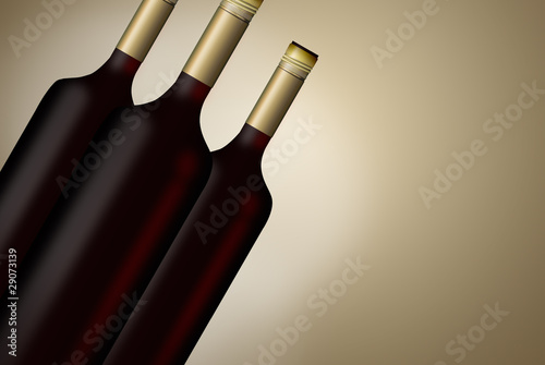 illustrated wine Bottles