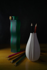Two vases in black