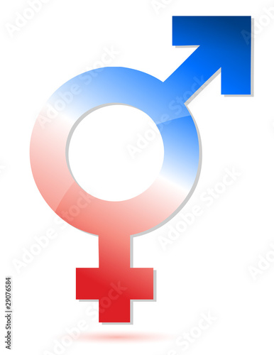 Male and female union symbol