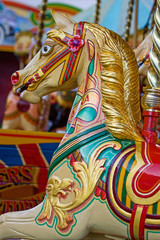 Old Fairground Flying Horse