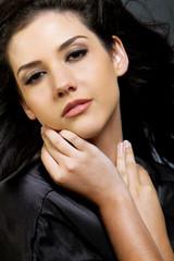 Beautiful ethnic woman with dark hair