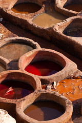 Leather dyeing vats