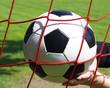 Fußball im Tor mit Hand - Soccer Goal