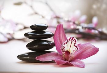 Spa salon kosmetyczny fototapeta orchidea