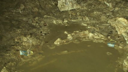 Water in the ancient cave