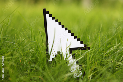 Mouse cursor or pointer, internet concept