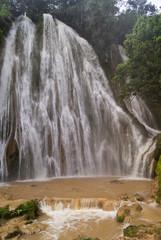 Waterfall after tropical rain. Saona