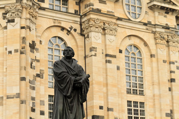 Martin Luther statue in Dresden, Saxony, Germany