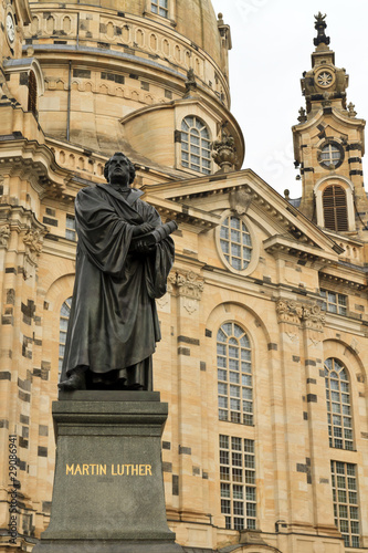 Martin Luther statue in Dresden, Germany