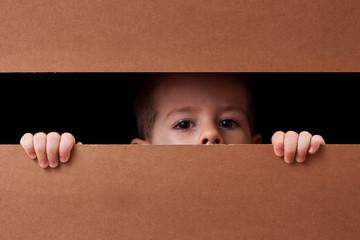 Boy peeping