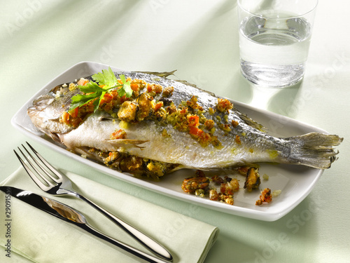 daurade farcie - orata ripiena - bream stuffed