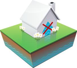 Maison et arrêt des remontées d'humidité par capillarité