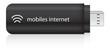 USB Stick schwarz mobiles internet logo