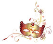 Ranke, Karneval, Fasching, Maske, Blumen