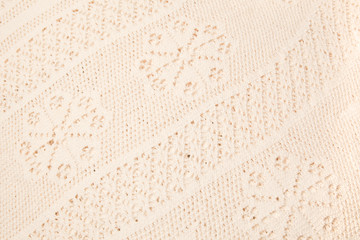 Vintage lace fabric background