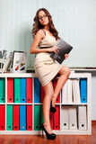 sexy young business lady in office