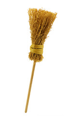 Broom (miniature), isolated on white