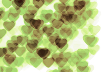 Colorful heart shape background