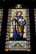 Saint Lucas stained glass in Coventry